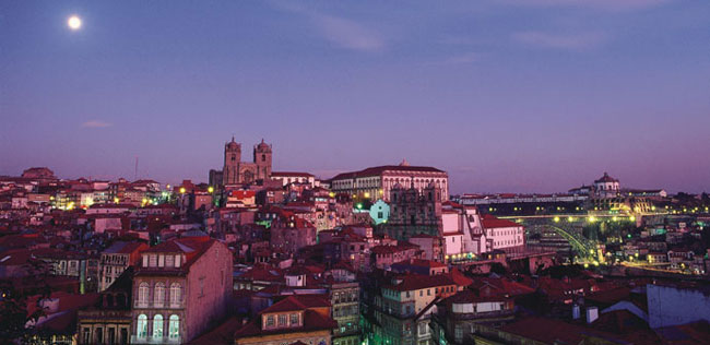 Porto in the evening
