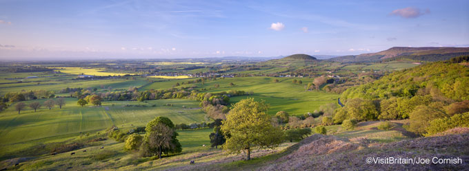Panoramic view of East Yorkshire